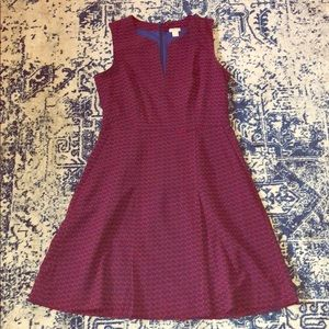 J. Crew like new cherry-patterned dress w/ pockets